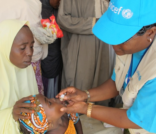 child vaccination cholera nigeria unicef